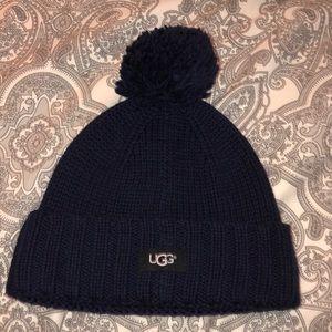 Navy blue ugg hat